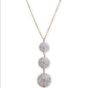 Kate Spade Two-Tone Pave Orb Lariat Necklace